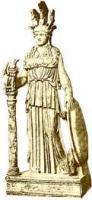 帕提农神庙的雅典娜神像