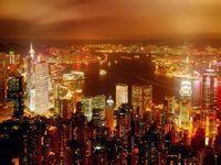 繁华的香港夜景