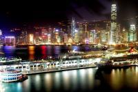 迷人的香港夜景