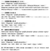 金刚经相关梵文咒语01图片
