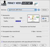 (图)Java Anon Proxy界面