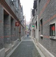 上海新天地街景2003年11月3日,上海新天地北里(兴业路以北高清图片