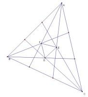 将三角形的三个内角三等分靠近某边的两条三分角线相得到一个交点