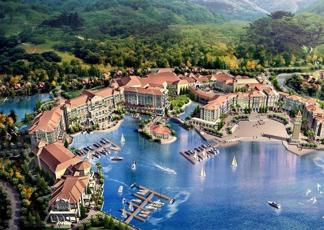 九龙山旅游度假区位于浙江省平湖