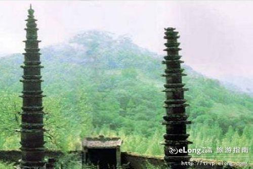 华池双塔寺图片