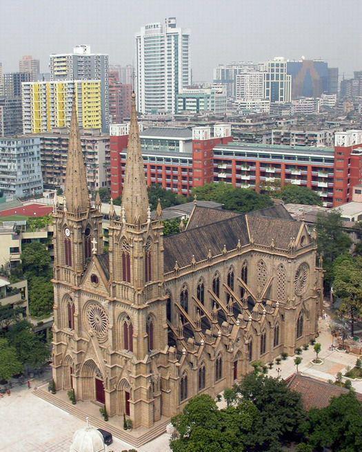 石室圣心大教堂全景
