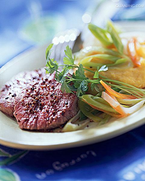 水煮牛肉鱼片粥 韭菜 香菜