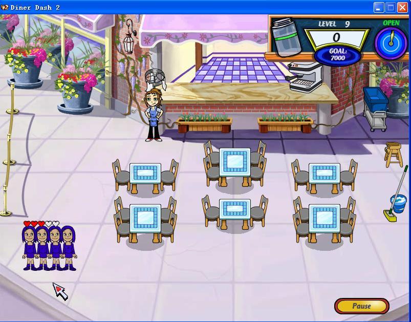 美女餐厅游戏场景图
