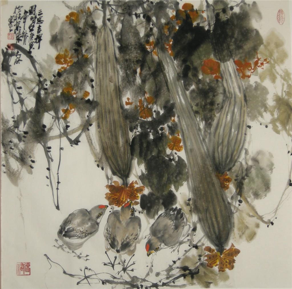 张大林大写意国画作品欣赏图片
