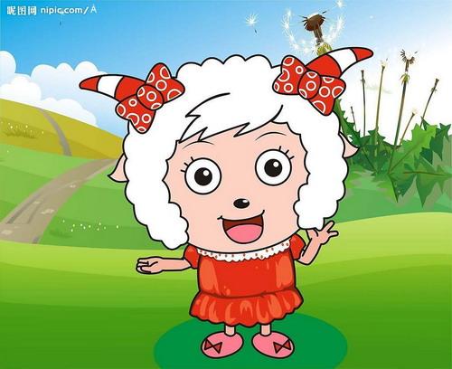在羊   儿童简笔画美羊羊填色画   美羊羊动画版人物形象   美羊羊大多数
