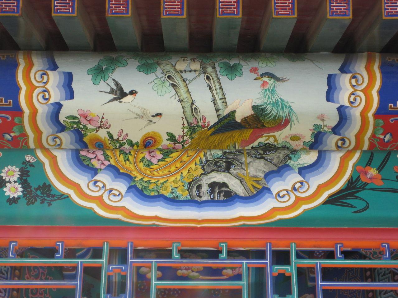 古建筑彩绘;;; 苏式彩画; 古建彩绘图片