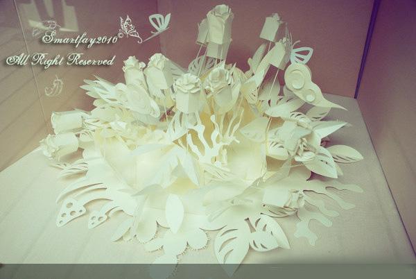 paper flower.上海1933老场坊拍摄高清图片