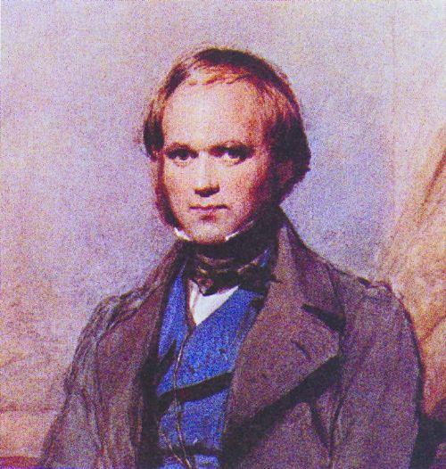达尔文生活照,封面是达尔文和其妻子的画像