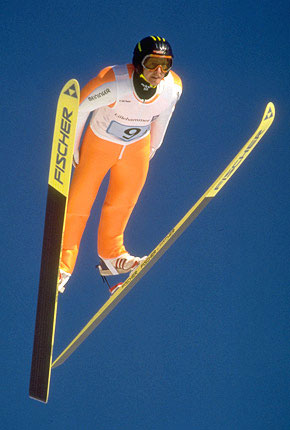 跳台滑雪空中动作