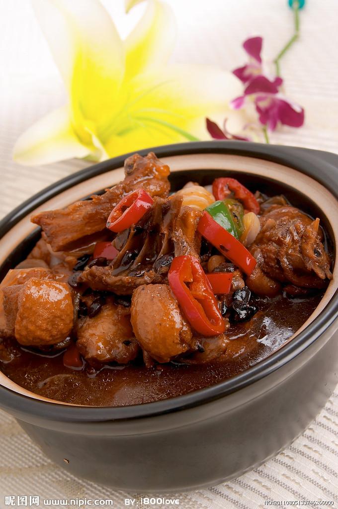 豆豉沙锅鸡