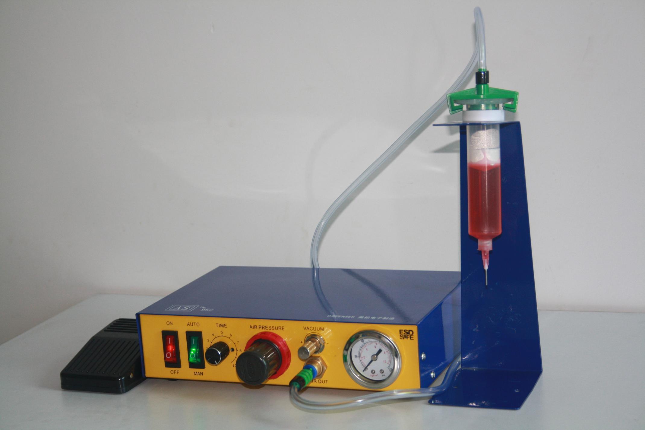 生产的一款用于单组份胶水点胶的气动控制器,又叫半自动点胶机,定量点图片