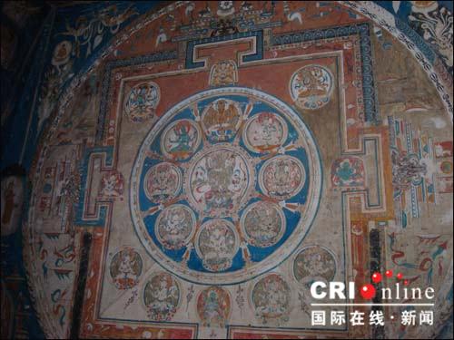 上千年的坛城壁画