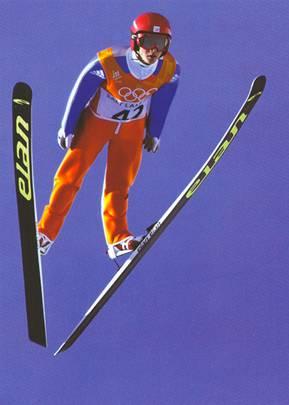 跳台滑雪空中姿势