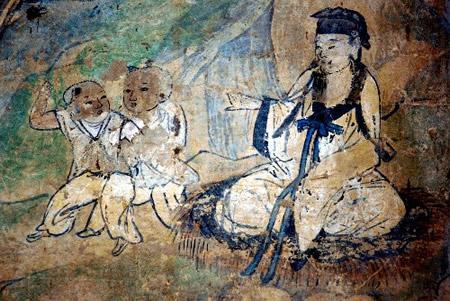 永乐宫重阳殿内精美的壁画