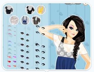 游戏简介  美女有着一把乌黑漂亮的长发