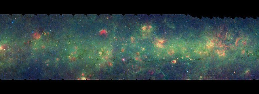 银河系宇宙星空图片_太阳系银河系全景图_银 >>图片