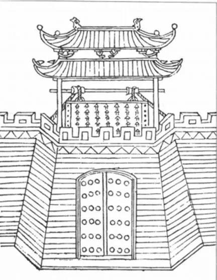 城门相对于城墙较为脆弱,极易成为敌人攻击的目标.图片