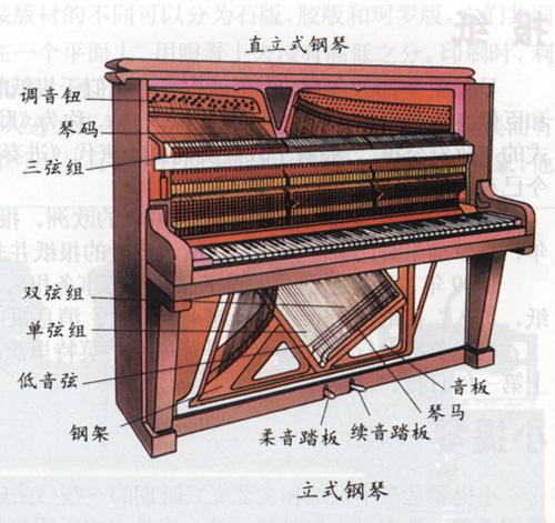 钢琴结构示意图图片