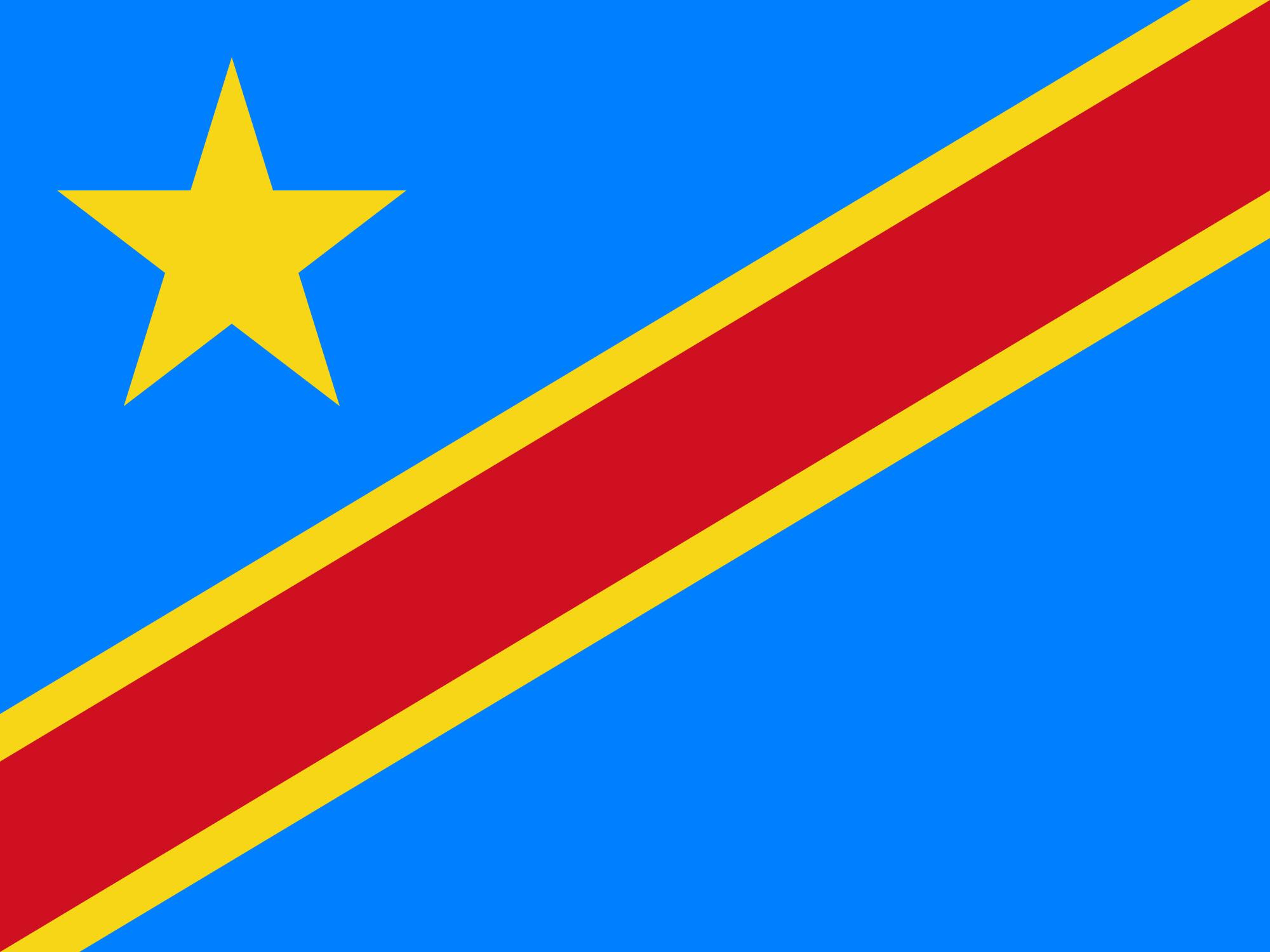 刚果民主共和国国旗 高清图片