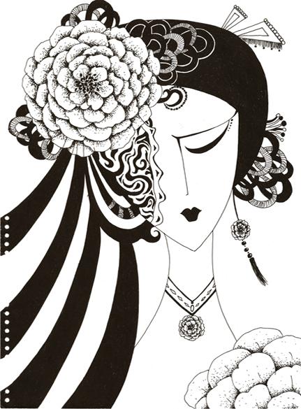 黑白装饰画…来自慕子狸的图片分享图片   简单的黑白画.高清图片