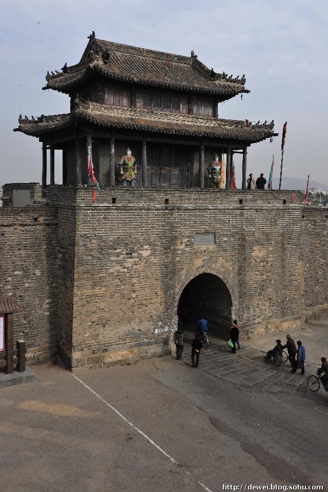 荆州古城(今江陵县城)和山西图片