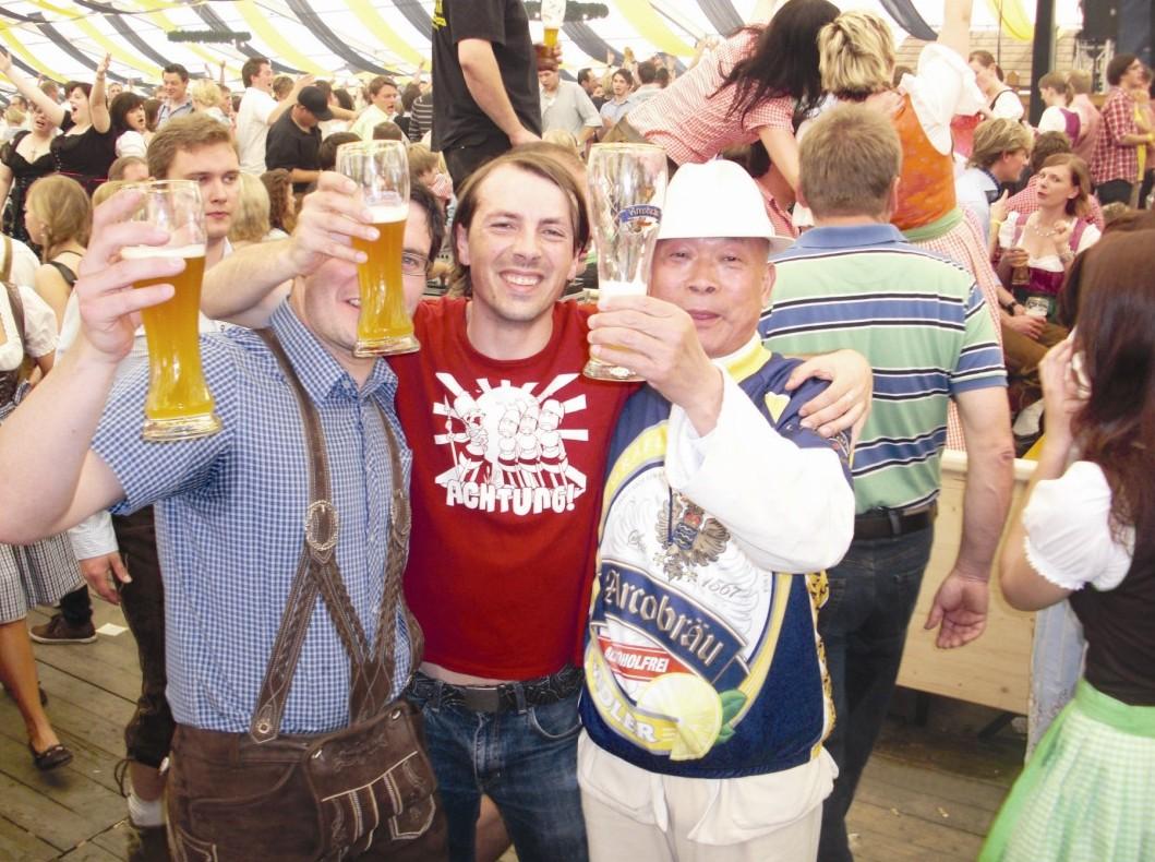 张总在德国啤酒节上