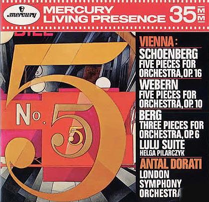 多拉蒂录制的韦伯恩 贝尔格的音乐作品