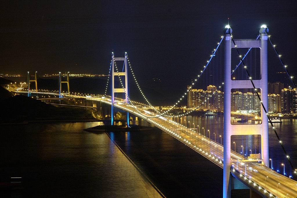 香港青马大桥夜景