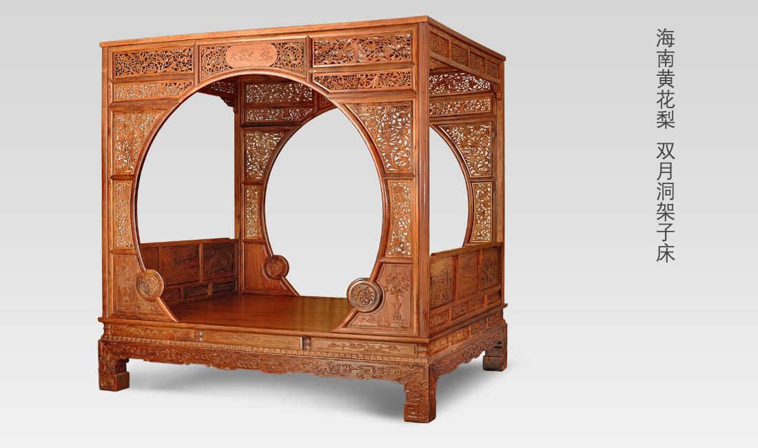 作为中式的高端寝具,架子床是非常人性化的,不仅床体精美的雕工图片