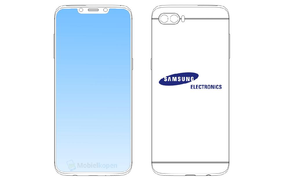 """三星新设计曝光,下一代 galaxy s 手机将用上""""刘海屏""""图片"""