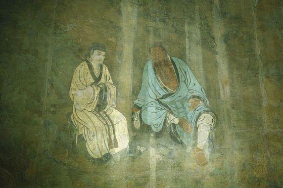 永乐宫壁画钟离汉度吕洞宾