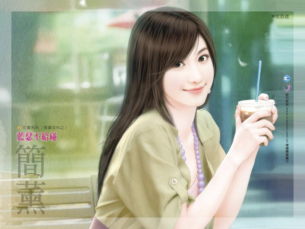 【贴图】新版手绘美女小说封面