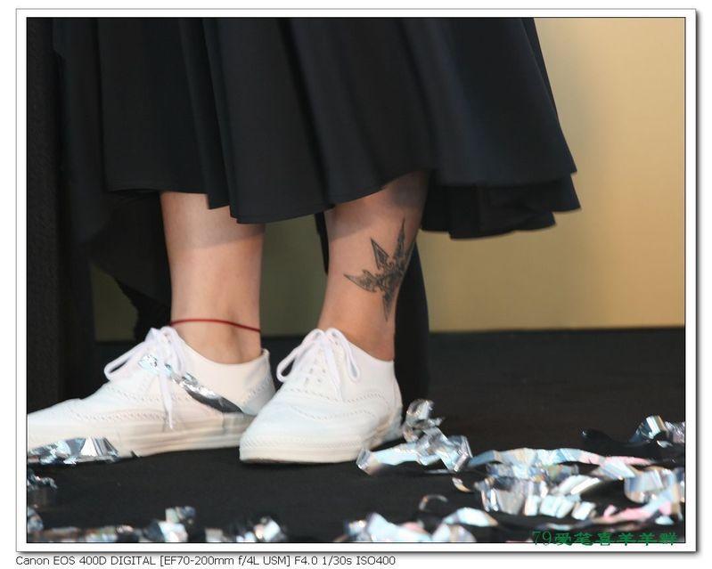周笔畅脚踝这个刺青是什么?图片