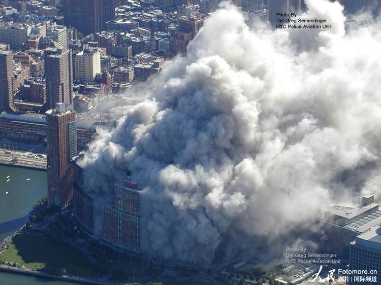 图 美国911恐怖袭击最新航拍照片公布
