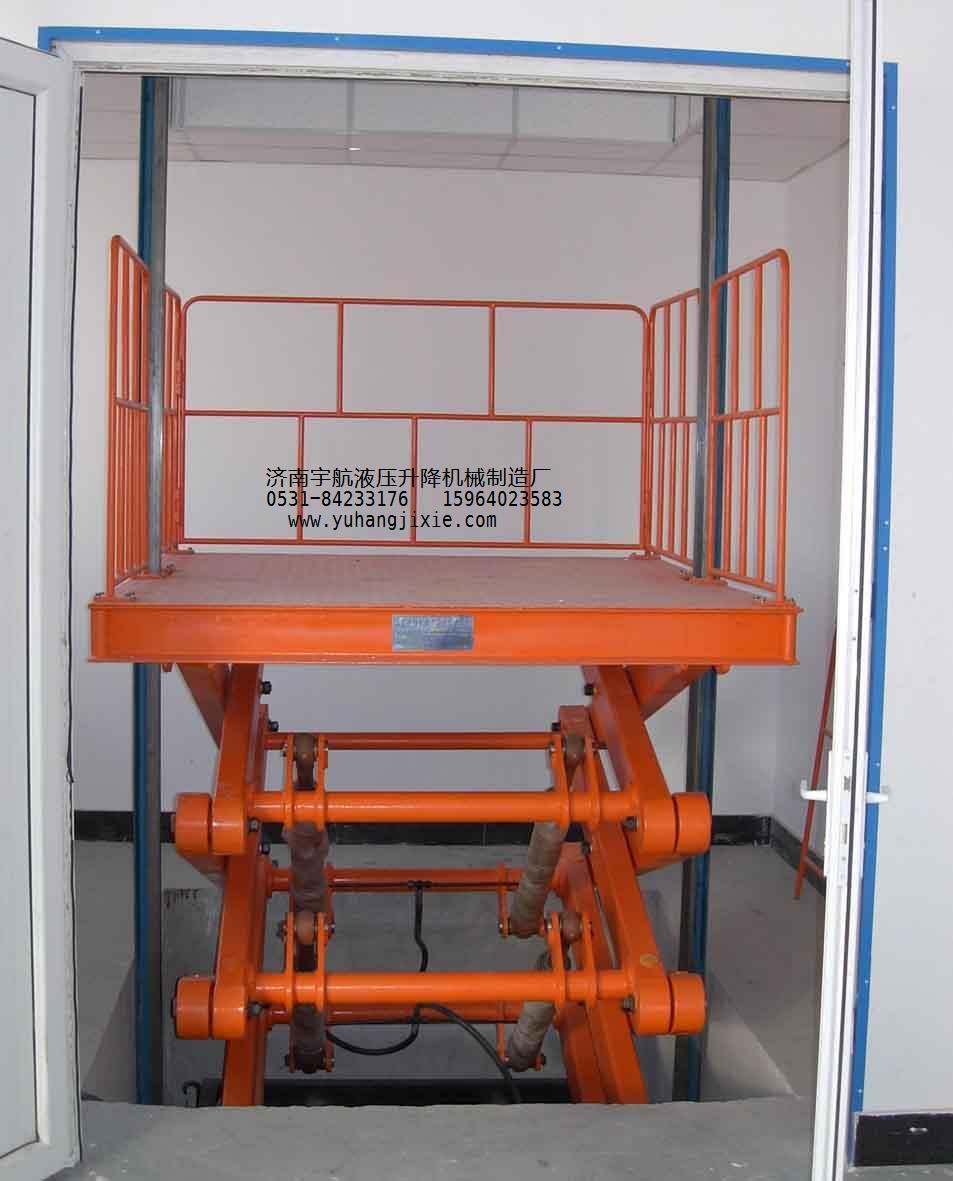 山东液压升降机,液压升降平台找济南宇航机械图片
