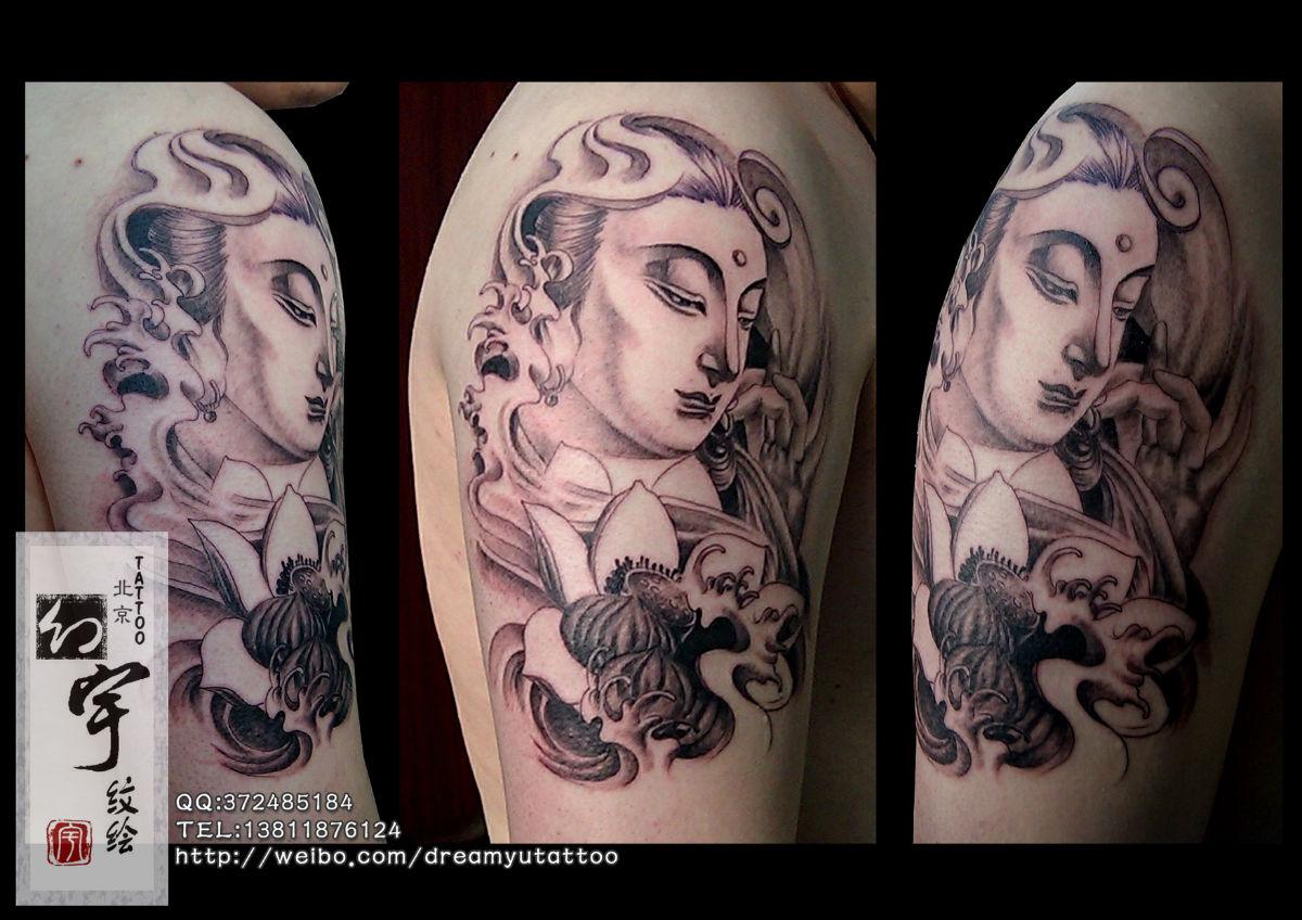 佛如意纹身手稿分享展示图片