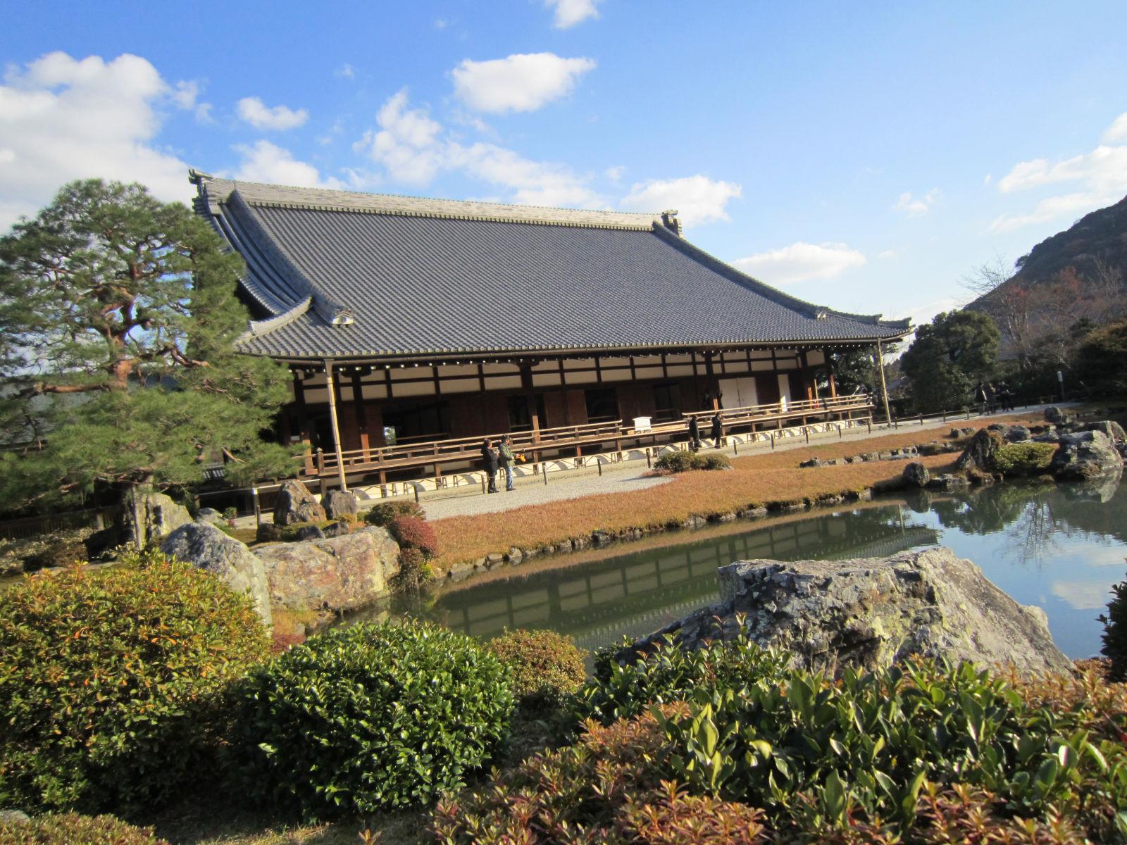 岚山天龙寺图片