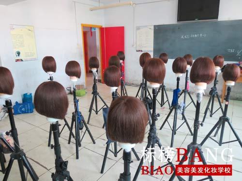 郑州标榜美容美发学校活力课堂之【沙宣经典方形堆积图片图片