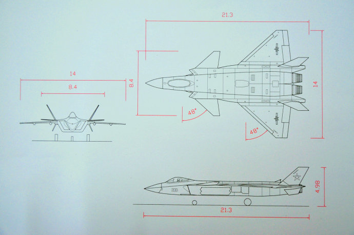 求歼20航模设计图,要详细点的,最好是涵道的,不是的也图片