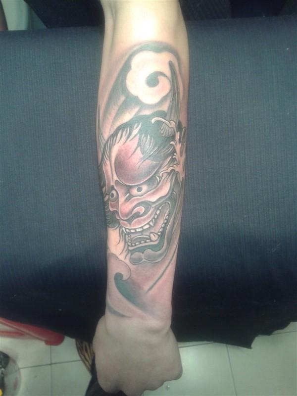 纹身图案男小腿后背鲤鱼分享展示图片