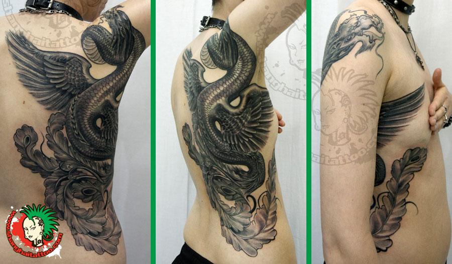 过肩龙纹身图案手稿-在线图片欣图片