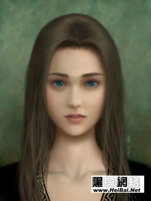 一幅看完令人自的诡异恐惧的美女图