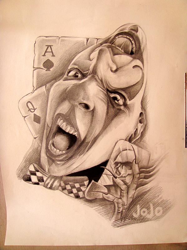 我自己设计的手稿 小丑正面图片