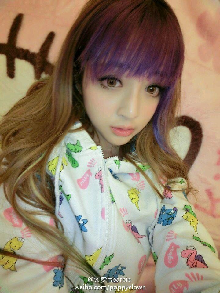挑染紫色头发图片_挑染紫色头发图片图片_挑染紫色 ...