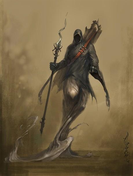 六翼死神拿镰刀图 拿镰刀死神高清壁纸 骷髅镰刀 ...